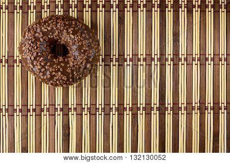 Donut in chocolate glaze . design element