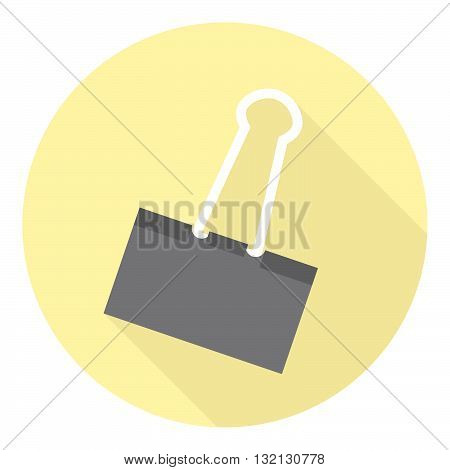 Office Paper Clip Tool Flat Style Design