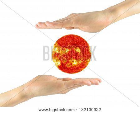 Sun In A Man's Hands Nasa