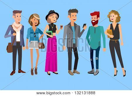 Creative team people, designer programmer, boss, team leader group portrait, team leader, group portrait. Design studio people, Creative designers, creative job people