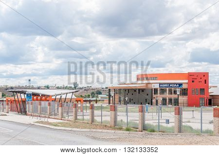 TROMPSBURG SOUTH AFRICA - MARCH 8 2016: A newly built hospital in Trompsburg a small town in the Free State Province