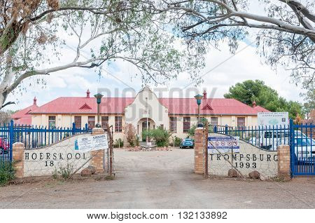 TROMPSBURG SOUTH AFRICA - MARCH 8 2016: The High School in Trompsburg a small town in the Free State Province.