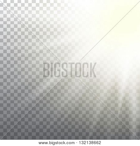 Abstract sun flare effect on light grey background. Vector eps10 illustration