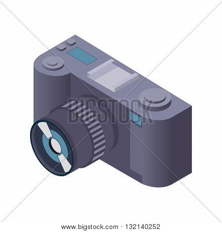 illustration with the image isometric the camera.