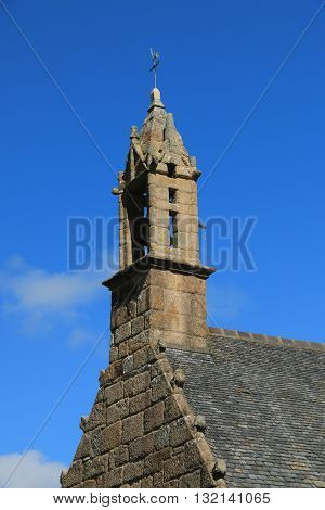 Bell tower of a breton church , côtes d Armor , Brittany , France