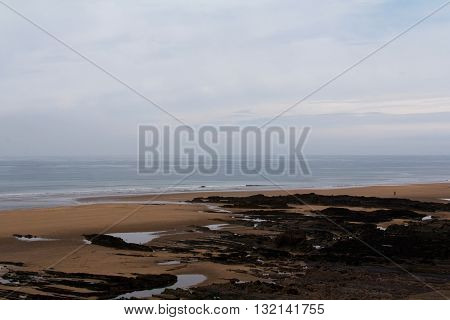 View Over The Beach At Bude In Cornwall