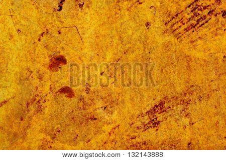 Fiery rusty, old walll as a background