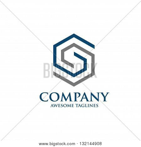 strong elegant letter s icon vector concept