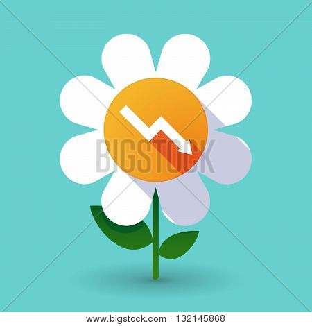 Vector Flower With A Descending Graph