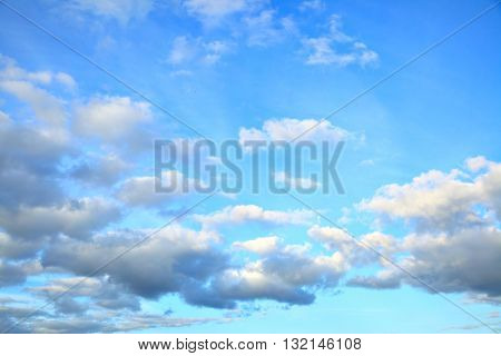 Evening sky with picturesque clouds