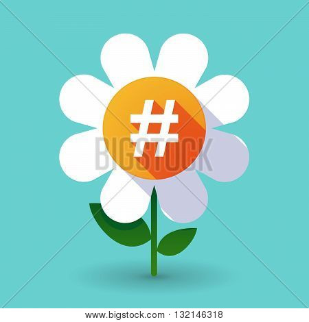 Vector Flower With A Hash Tag