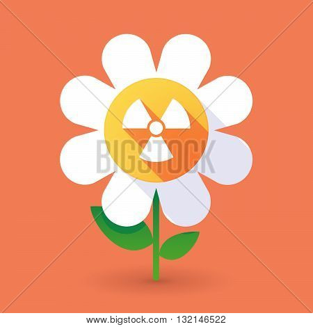 Vector Flower With A Radio Activity Sign