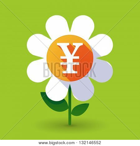 Vector Flower With A Yen Sign