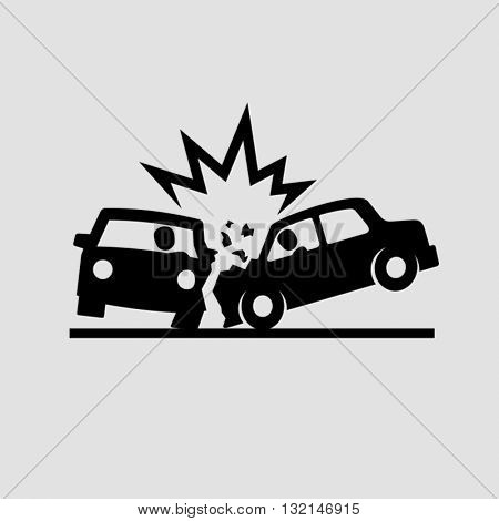 Crashed Cars vector