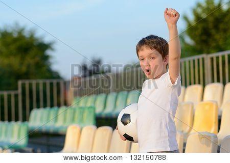 Little Boy - Football Team Fan