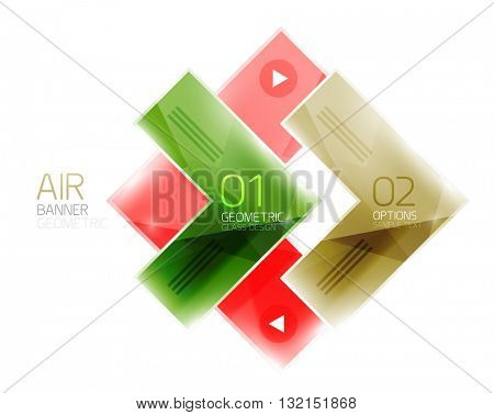Arrow option banner. Vector template