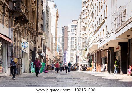 SAO PAULO, BRAZIL - CIRCA JAN 2015: The downtown of Sao Paulo, Brazil.