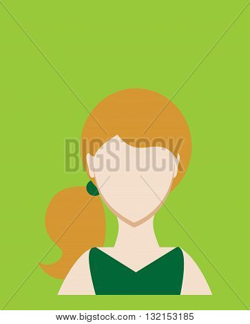 Female avatar or pictogram for social networks. Modern flat colorful style. Vector illustration