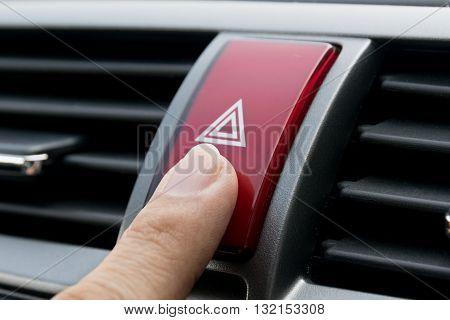 Emergency button in the car. emergency, car, visibility, dashboard
