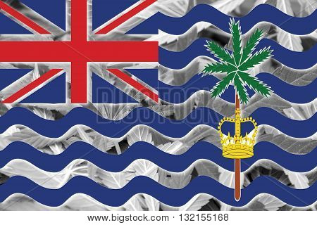 Flag Of British Indian Ocean Territory, On Cannabis Background