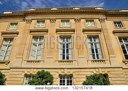 Versailles France - august 19 2015 : Petit Trianon in the Marie Antoinette estate in the parc of Versailles Palace