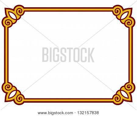 Simple Vector Line Border Frame Isolated Illustration