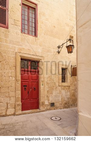 Details Of The Silent Streets Of The Old Town Mdina