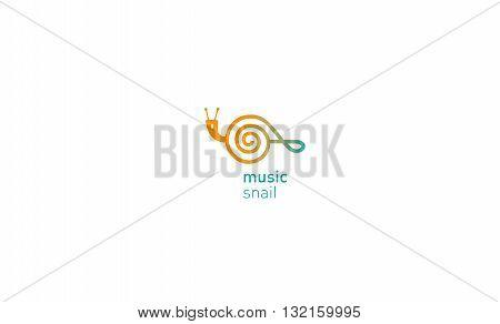 creative development logo musical treble  clef and shail