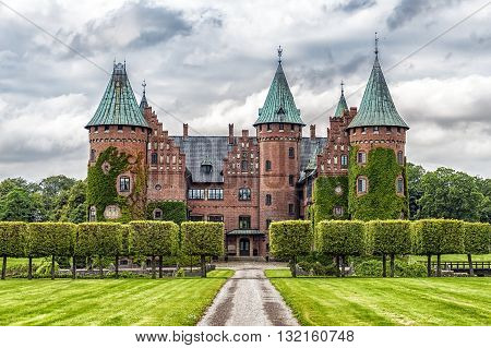 The historic Trolleholm castle situated near to the swedish town of Eslov.