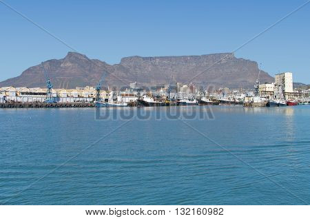 View Of Table Mountain From Victoria And Alfred Waterfront Cape Town South Africa