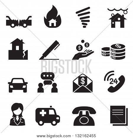 Insurance Icons Vector Illustration Symbol  graphic design