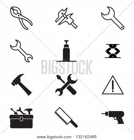 Construction tool icon collection Vector illustration Symbol