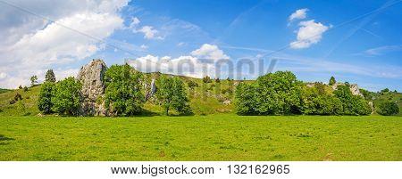 Nature Landscape Eselsburger Tal, Swabian Alps, Germany