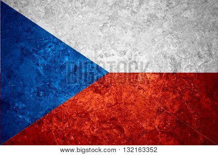 flag of Czech or banner on vintage background