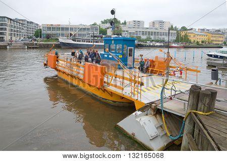 TURKU, FINLAND - JUNE 12, 2014: Ferry