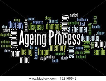 Ageing Process, Word Cloud Concept 4