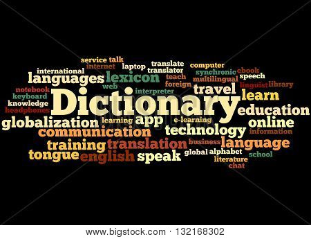 Dictionary, Word Cloud Concept 9
