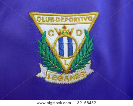 Leganes Soccer Club Patch Sewed In Purple Tshirt