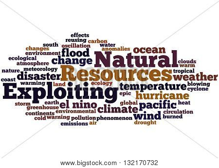 Exploiting Natural Resources, Word Cloud Concept 6