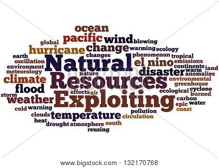 Exploiting Natural Resources, Word Cloud Concept 7