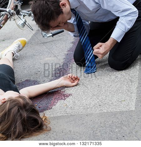 Driver Killing A Cyclist