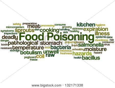Food Poisoning, Word Cloud Concept 3