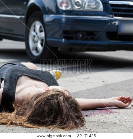 Dead Woman On The Street
