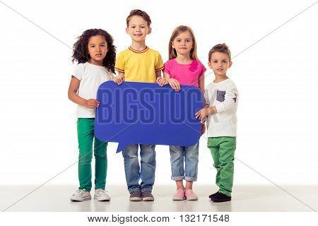 Cute Children With Speech Bubble