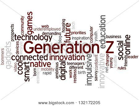 Generation Z, Word Cloud Concept 7