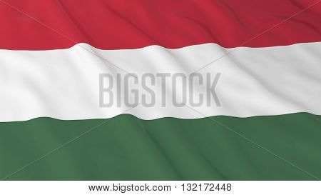 Hungarian Flag HD Background - Flag of Hungary 3D Illustration