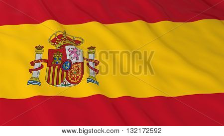 Spanish Flag HD Background - Flag of Spain 3D Illustration