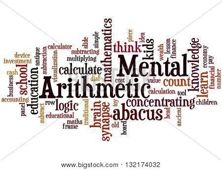 Mental Arithmetic, Word Cloud Concept 8