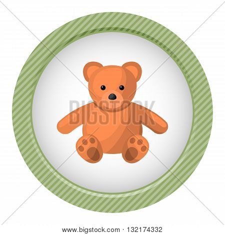 Teddy colorful icon. Vector illustration in cartoon style