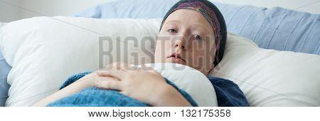 Sick Afraid Woman